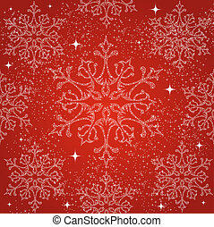 Merry Christmas snowflakes seamless pattern background.