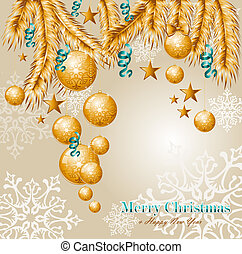 Merry Christmas elements background EPS10 vector file.