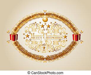 Merry Christmas mistletoe background EPS10 vector file.