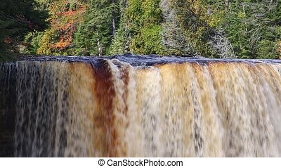 Powerful Waterfall in Autumn Loop - Beautiful loop features...