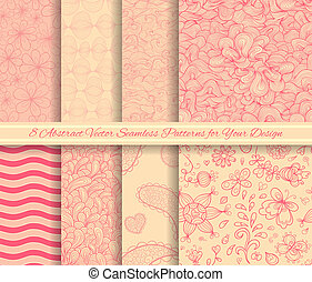 Set of vector seamless patterns for Your design