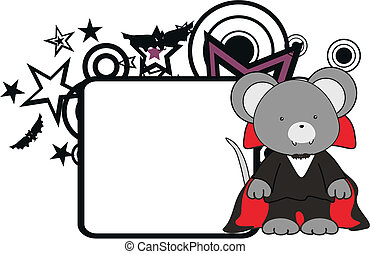 mouse kid vampire halloween costume copyspace in vector...