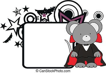 mouse kid vampire halloween costume copyspace in vector...