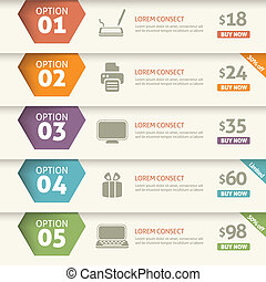 Option and price infographic