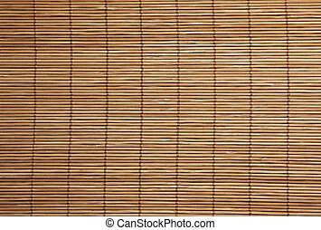 Background texture of bamboo placemat close up - Background...