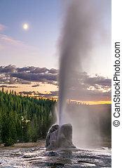 Lone Star Geyser - Spectacular Lone Star Geyser during...