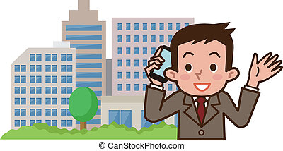 Businessman in a call