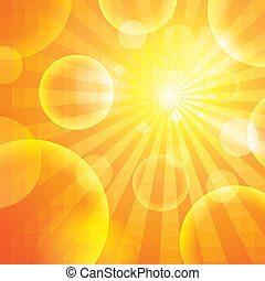 Sun light - Abstract orange Sun light background.