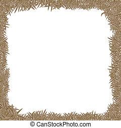 dry grass frame