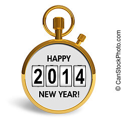 New Year 2014 concept - Creative abstract New Year 2014...