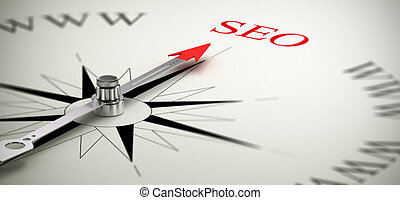 SEO - Search Engine Optimization - Compass with the needle...
