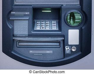 maschine, geldautomat