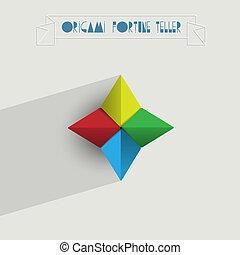 Origami Fortune Teller Vector EPS10