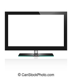 Vector illustration of TV flat screen lcd
