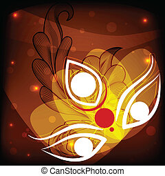 Happy Durga Puja - easy to edit vector illustration Happy...