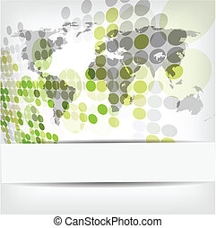 abstract circle background - vector illustration