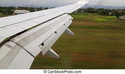 Touch down - Plane landing, view from inside