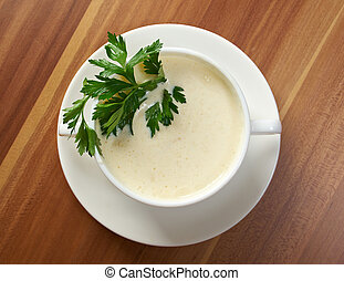 creamy cauliflower soup - bowl of creamy cauliflower soup