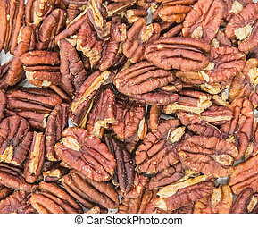 Pecan Nuts - Pecan nuts over white background