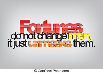 Motivational Background - Fortunes do not change men, just...