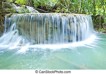Waterfall - Some part of the seven layer waterfall in Erawan...