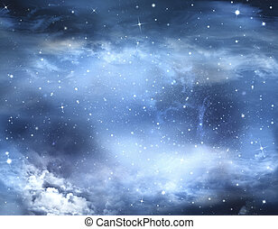 abstract winter sky, background
