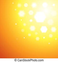 Abstract orange Sun light background - vector illustration...