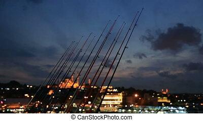 fishing rod on the Galata Bridge