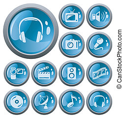 Multimedia buttons - Multimedia button set