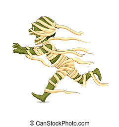 Halloween Mummy - easy to edit vector illustration of...