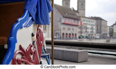 Carrousel in Zurich - HD 1080p - Old style carrousel in the...