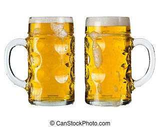 Oktoberfest beer stein or Mass - Photo of two traditional...
