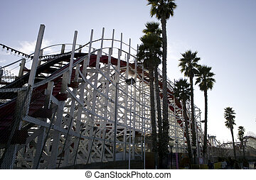 Roller Coaster - A view of an old wood roller coaster...