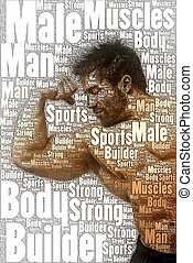 word picture body builder - A nice body builder picture made...