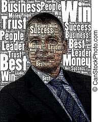 Business Man text cloud - An image of nice Business Man text...