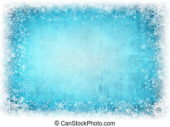 Frame from snowflakes with space for text. Winter...