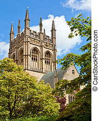 Merton College Chapel tower - Merton College chapel, Oxford...