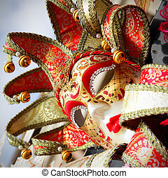 Venice mask - Traditional carnival mask close-up, Venice