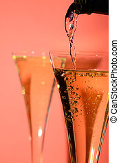 Sparkling wine - Pouring sparkling wine
