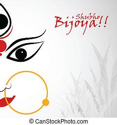Shubho Bijoya - easy to edit vector illustration of Subho...