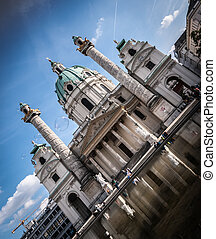 Karlskirche St Charless Church in Vienna, Austria