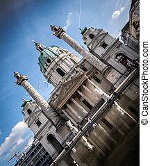 Karlskirche St. Charles's Church in Vienna, Austria