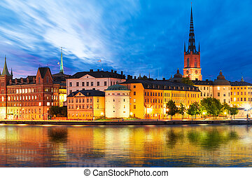 Evening scenery of Stockholm, Sweden - Beautiful evening...