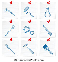 paper note and drawing tools - Paper note and drawing tools...