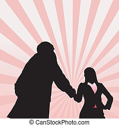Success Business woman - Silhouettes of Success Business...