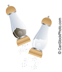 salt and pepper - an illustration of matching salt and...