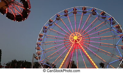 Ferris Wheel at amusement park