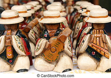 Carved Musicians - Hand carved wooden musicians for sale at...