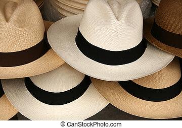 Stacked Panama Hats - Handmade Panama Hats for sale at the...