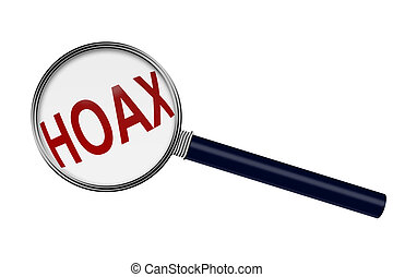 Looking for Information about a Hoax - Magnifying Glass with...